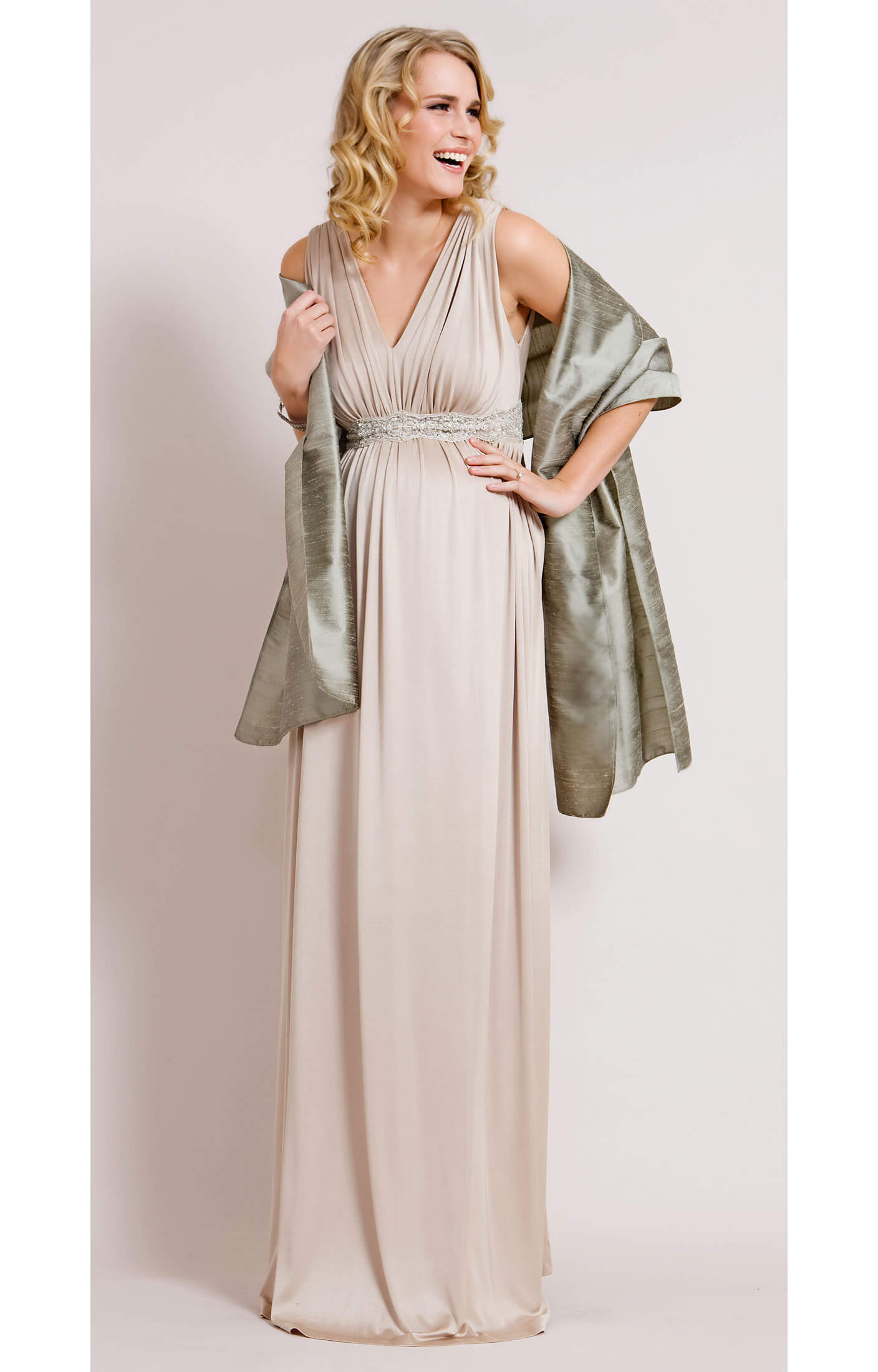 Champagne maternity gown long maternity wedding dresses champagne maternity gown long by tiffany rose ombrellifo Gallery