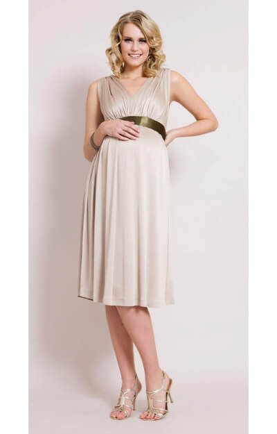 Champagne Maternity Gown (Short) by Tiffany Rose