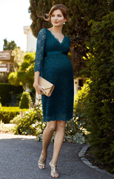 Chloe Maternity Lace Dress Dragonfly by Tiffany Rose