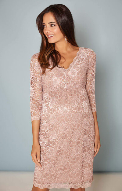 Chloe Lace Maternity Dress Orchid Blush by Tiffany Rose