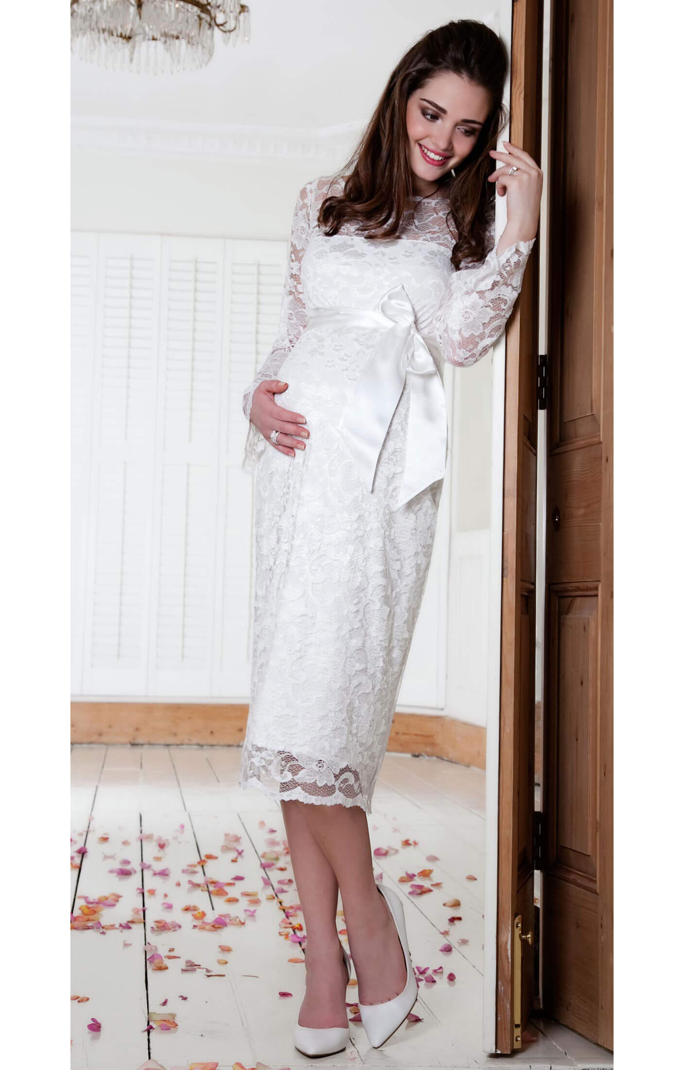 Chloe Maternity Dress (Ivory