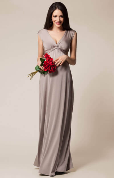 Clara Maternity Gown Long Mocha by Tiffany Rose