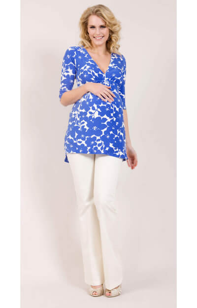Cruise Maternity Top (Blue) by Tiffany Rose