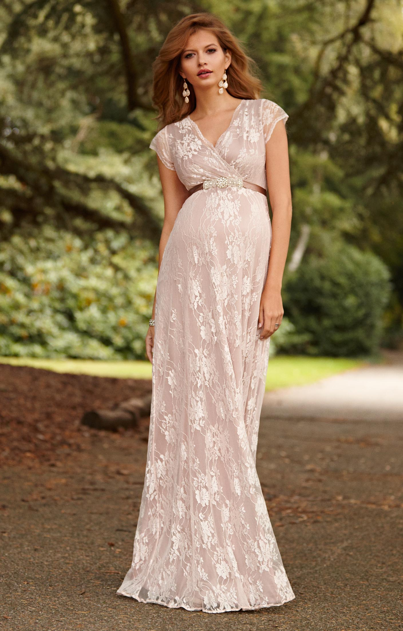 Eden Maternity Gown Long Blush - Maternity Wedding Dresses, Evening ...