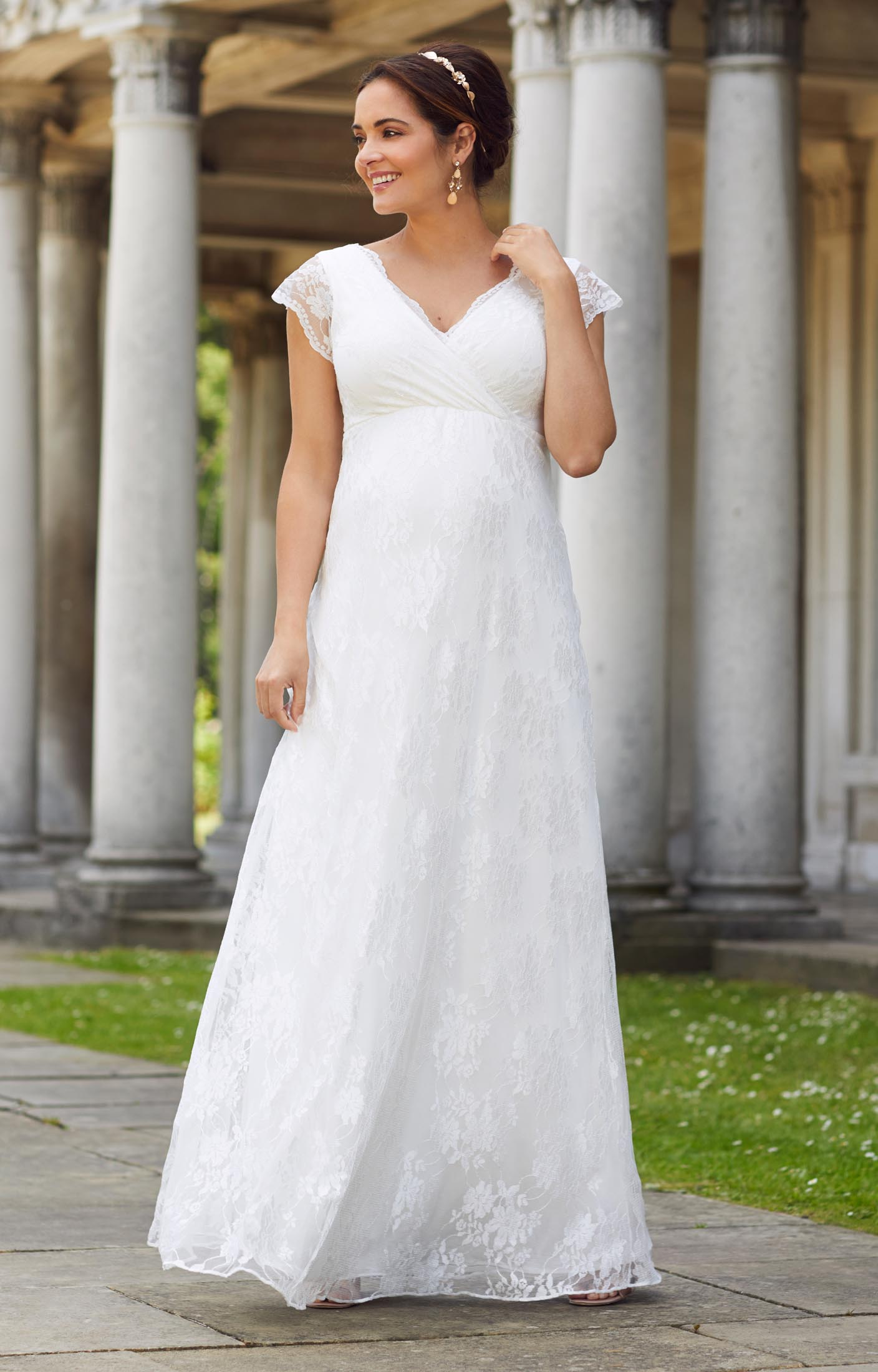 Eden Maternity Wedding Gown Long (Ivory Dream) - Maternity Wedding ...