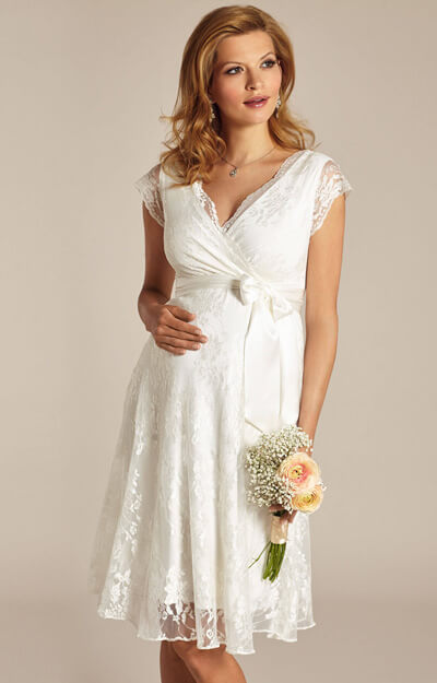 Eden Maternity Wedding Dress Ivory Dream) by Tiffany Rose