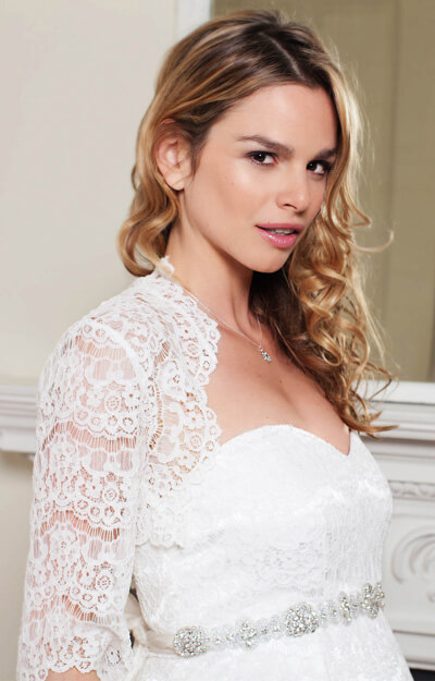 Ellen Lace Bolero (Ivory) by Tiffany Rose