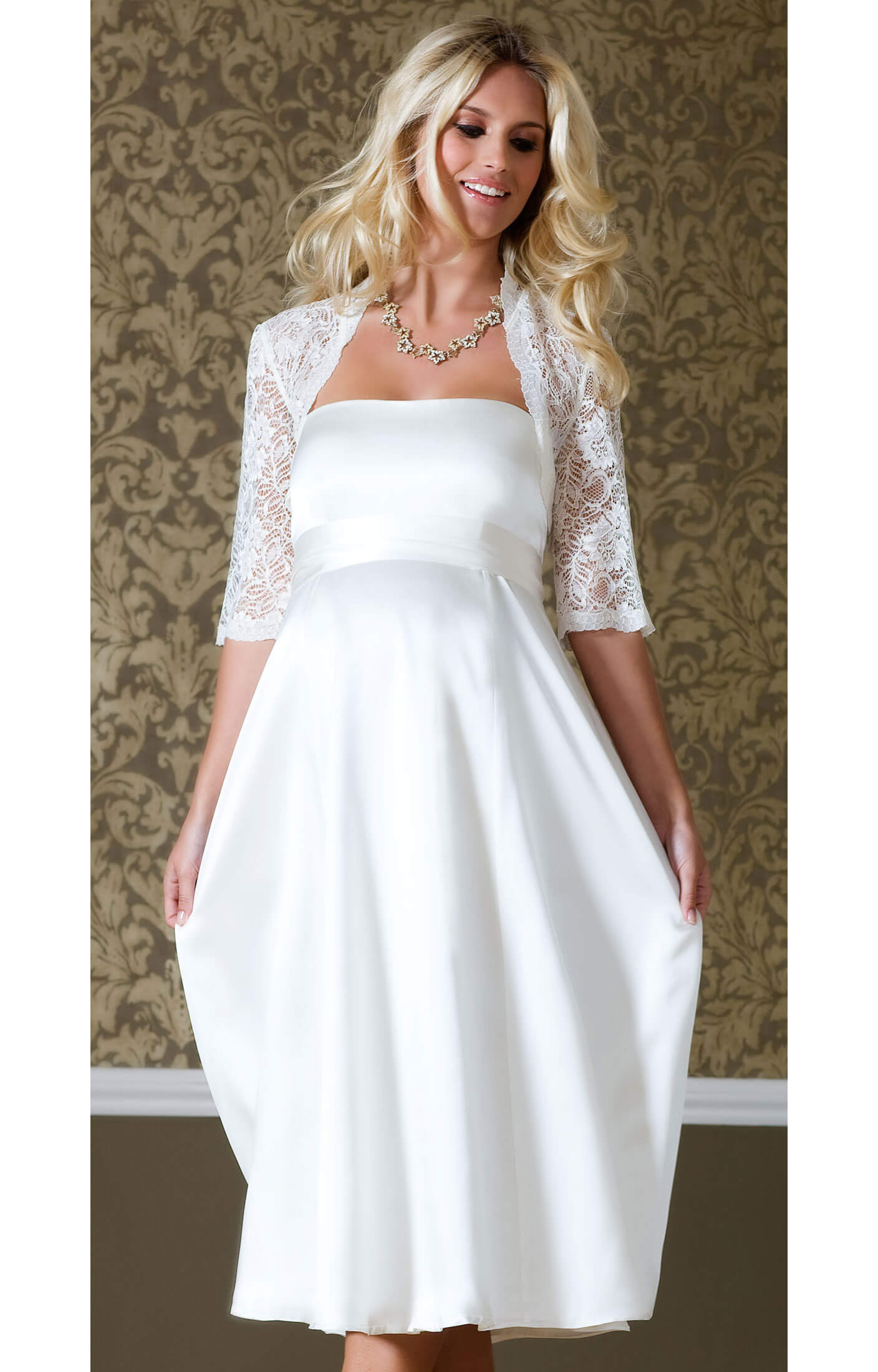 Ella Maternity Wedding Gown (Short) - Maternity Wedding Dresses ...