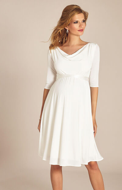 Elise Maternity Wedding Dress Short Ivory by Tiffany Rose