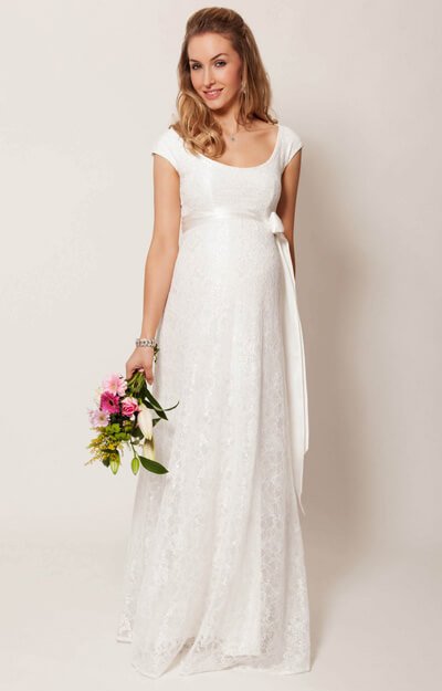 Eliza Maternity Wedding Gown Long (Ivory) by Tiffany Rose