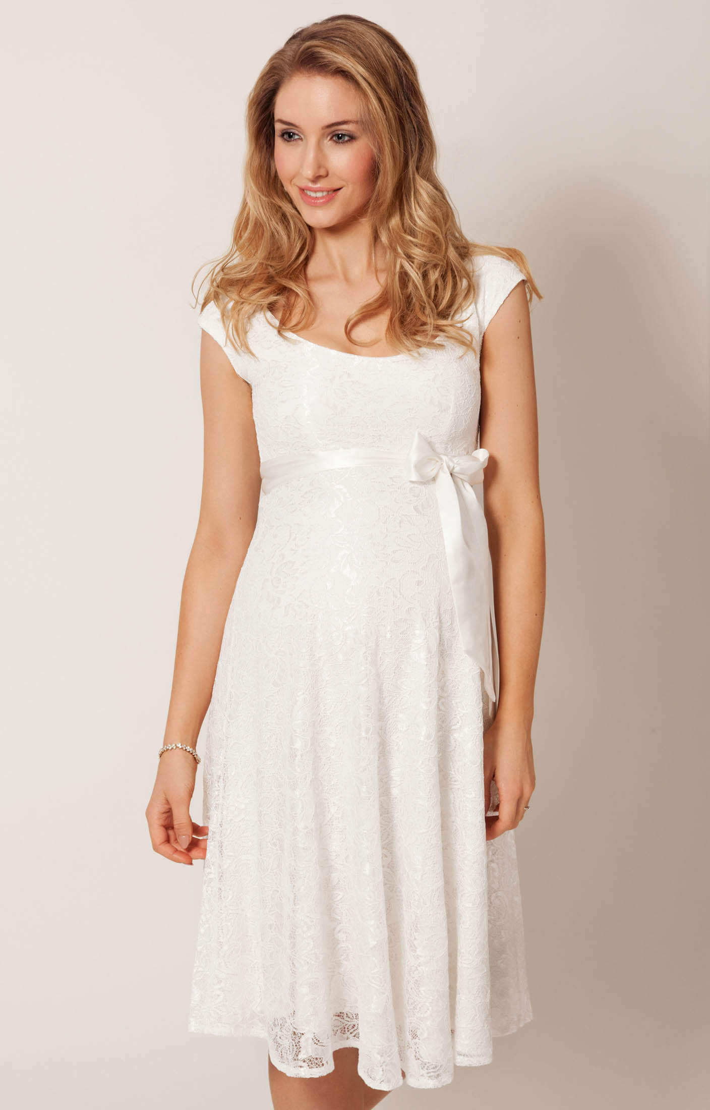 Eliza Maternity Wedding Dress Short (Ivory) - Maternity Wedding ...