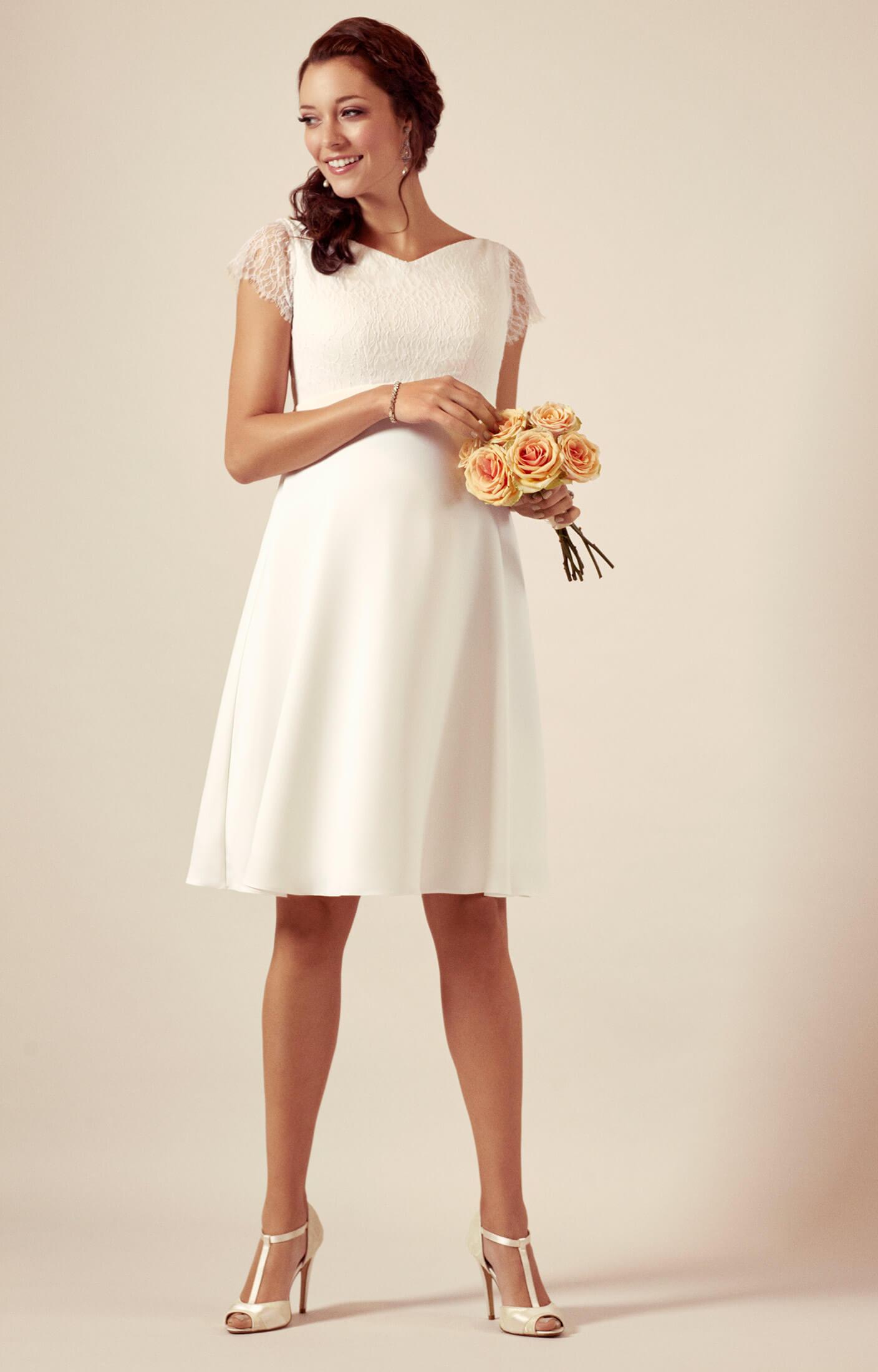 Eleanor Umstandsmoden Hochzeitskleid in Elfenbein ...