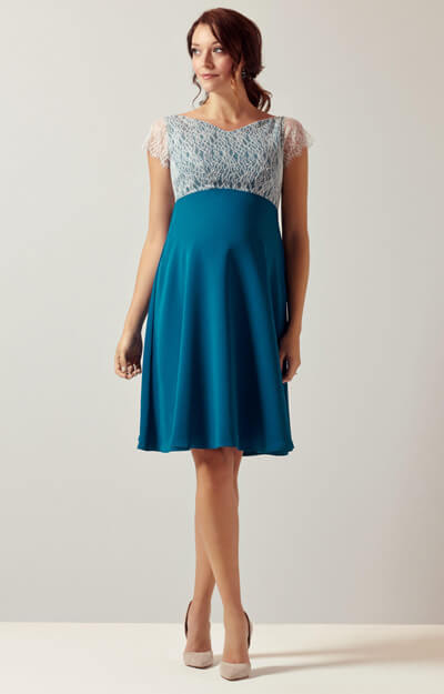 Eleanor Maternity Dress Kingfisher by Tiffany Rose