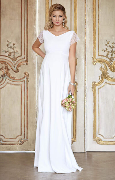 Eleanor Maternity Wedding Gown (Ivory White) by Tiffany Rose