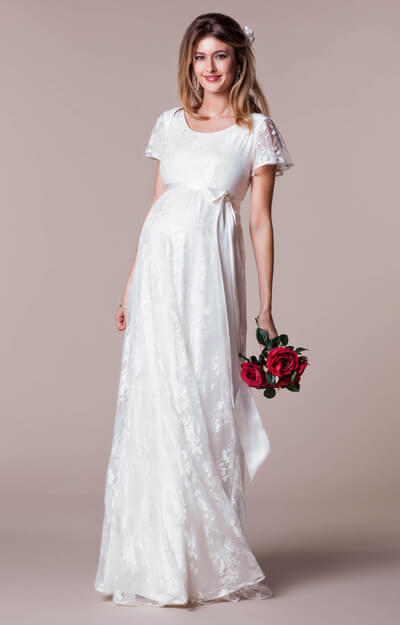 Elsa Maternity Wedding Gown Long Ivory Dream by Tiffany Rose