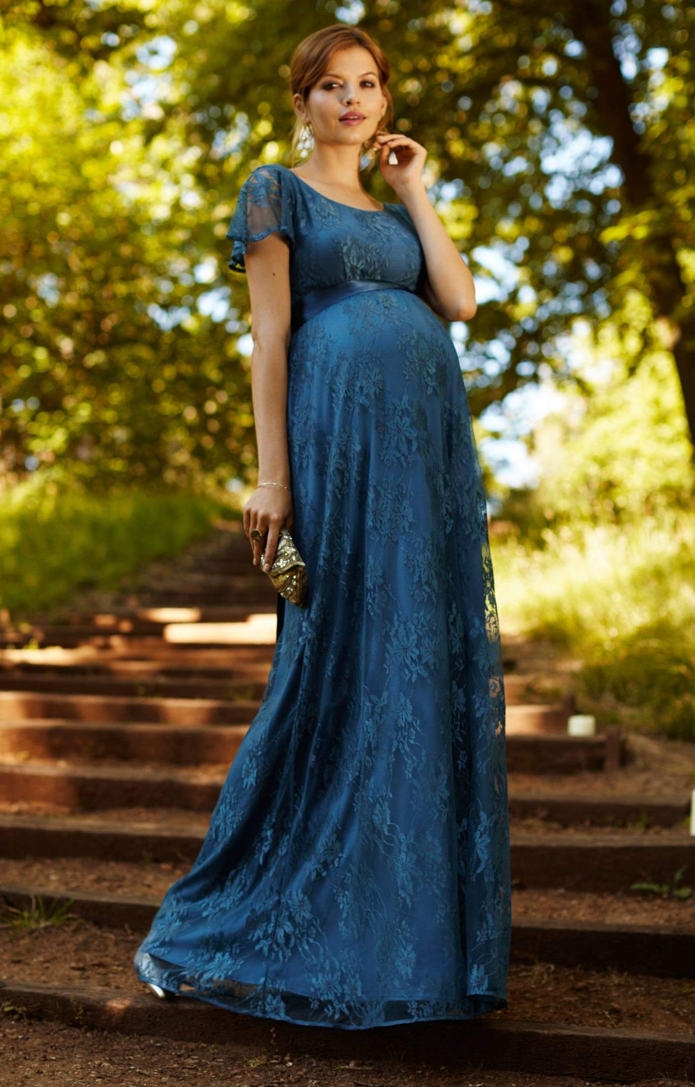 Elsa maternity gown long lagoon blue maternity wedding dresses elsa maternity gown long lagoon blue by tiffany rose ombrellifo Image collections