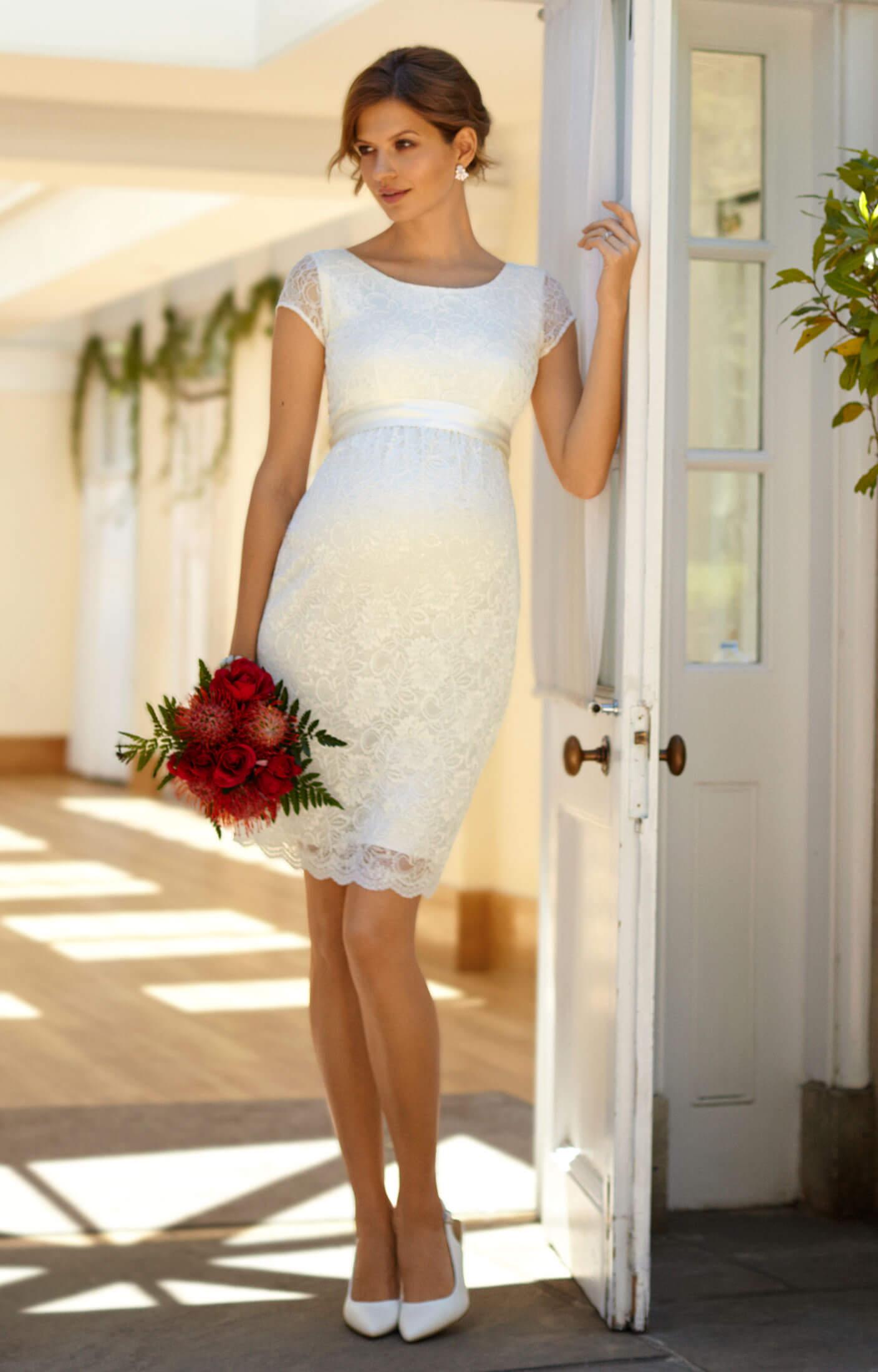 Emma Maternity Shift Dress Ivory - Maternity Wedding Dresses, Evening ...