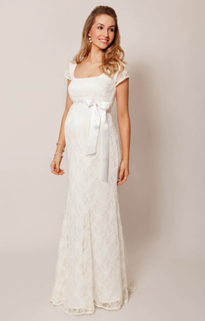 Eva Lace Maternity Wedding Gown (Cream) by Tiffany Rose