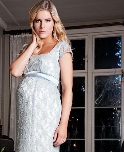 Eva Lace Maternity Gown Glacier Maternity Wedding