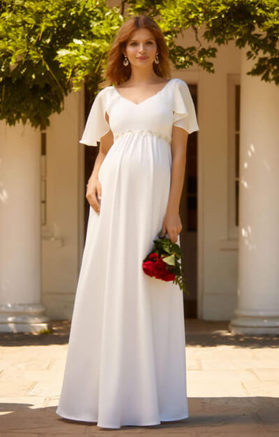 Everly Maternity Wedding Gown Ivory by Tiffany Rose