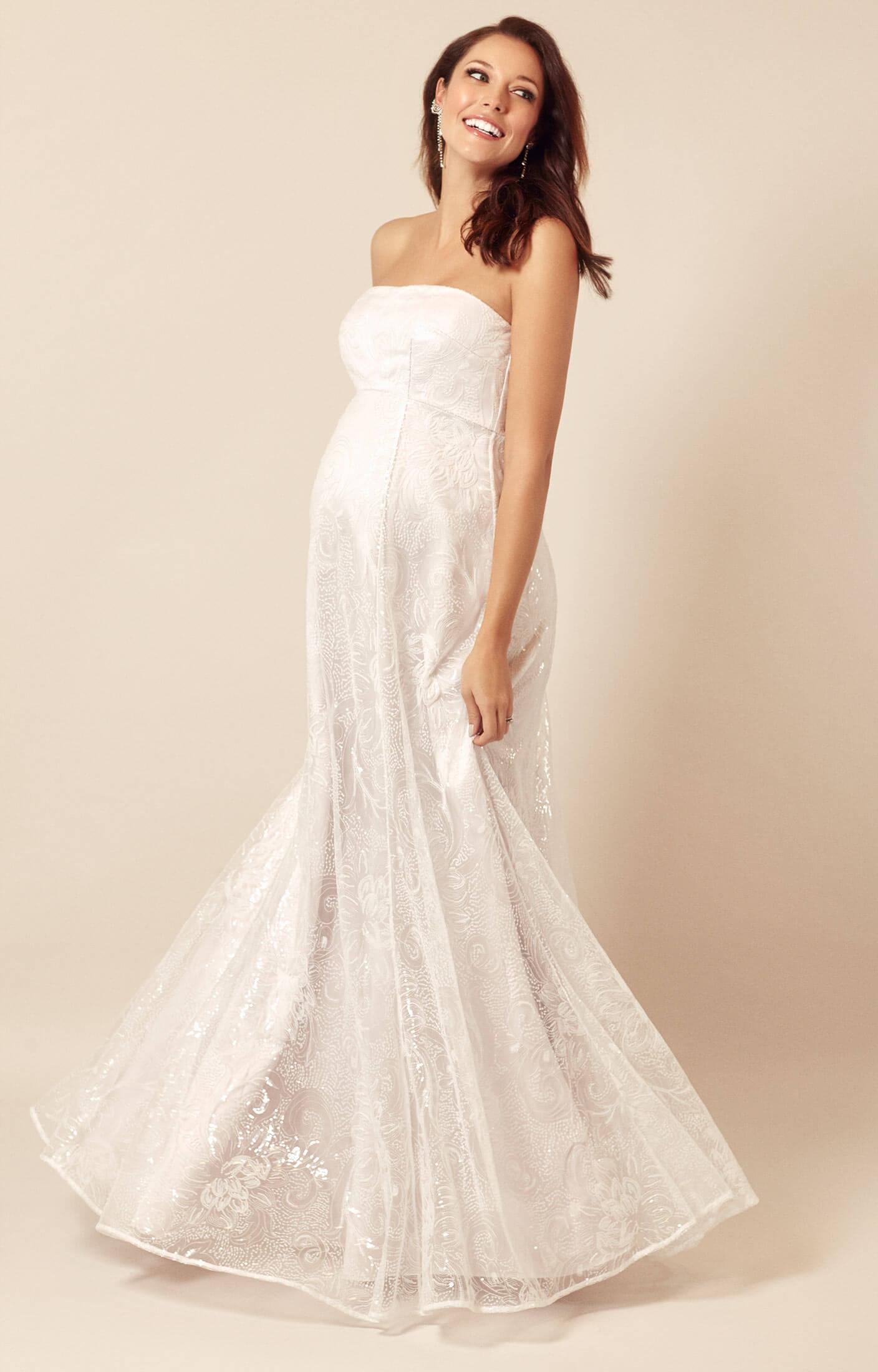 Evita Umstandsmoden Brautkleid lang in Antique Weiß ...
