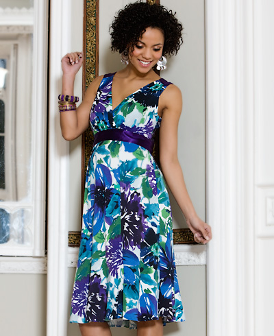 Floral Maternity Dress (Short) - Maternity Wedding Dresses, Evening ...