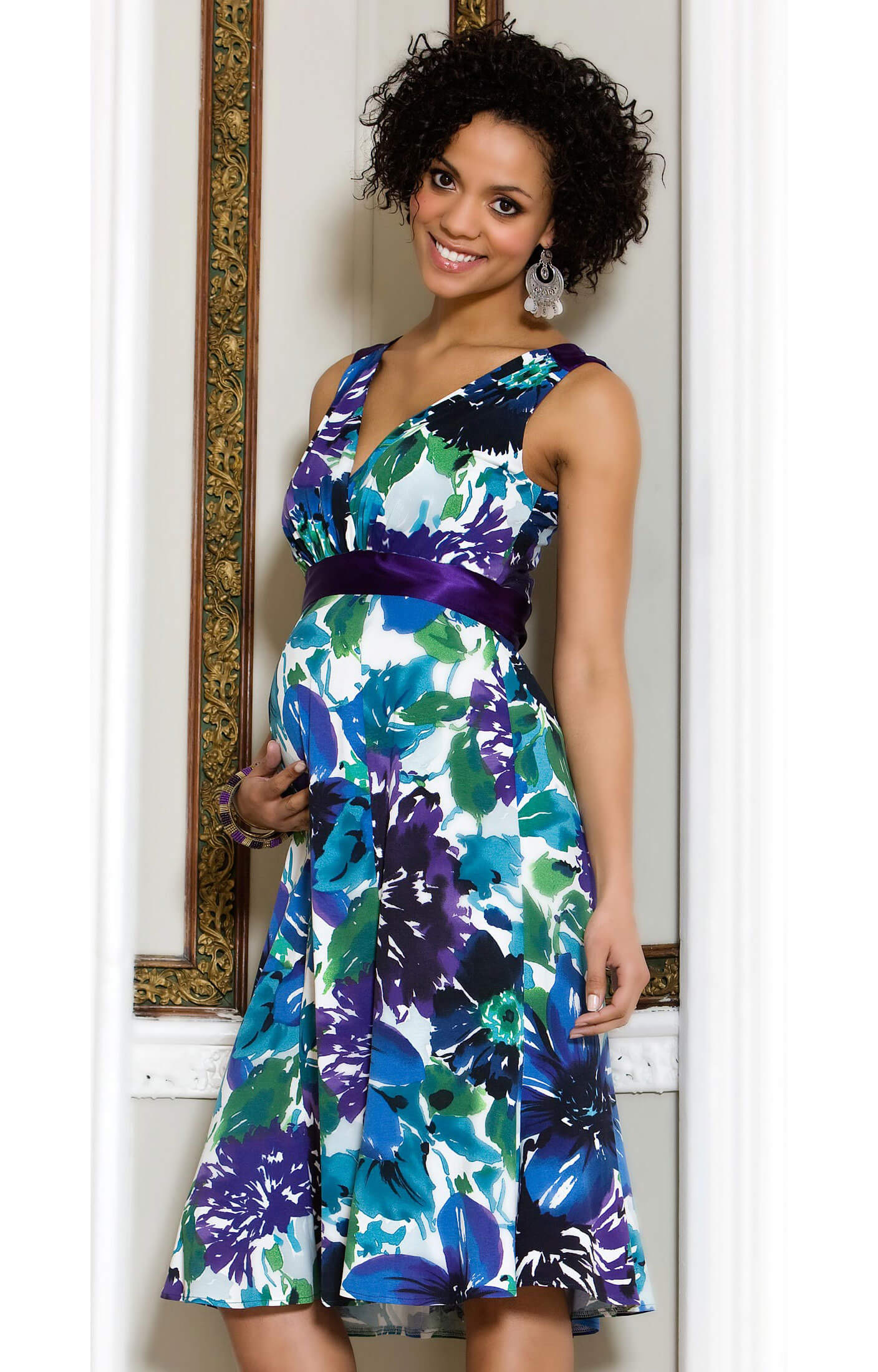 Floral Maternity Dress (Short) - Maternity Wedding Dresses, Evening ...