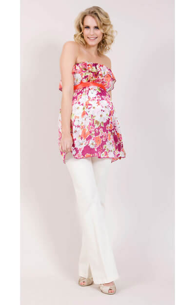 Flamenco Maternity Top (Pink) by Tiffany Rose