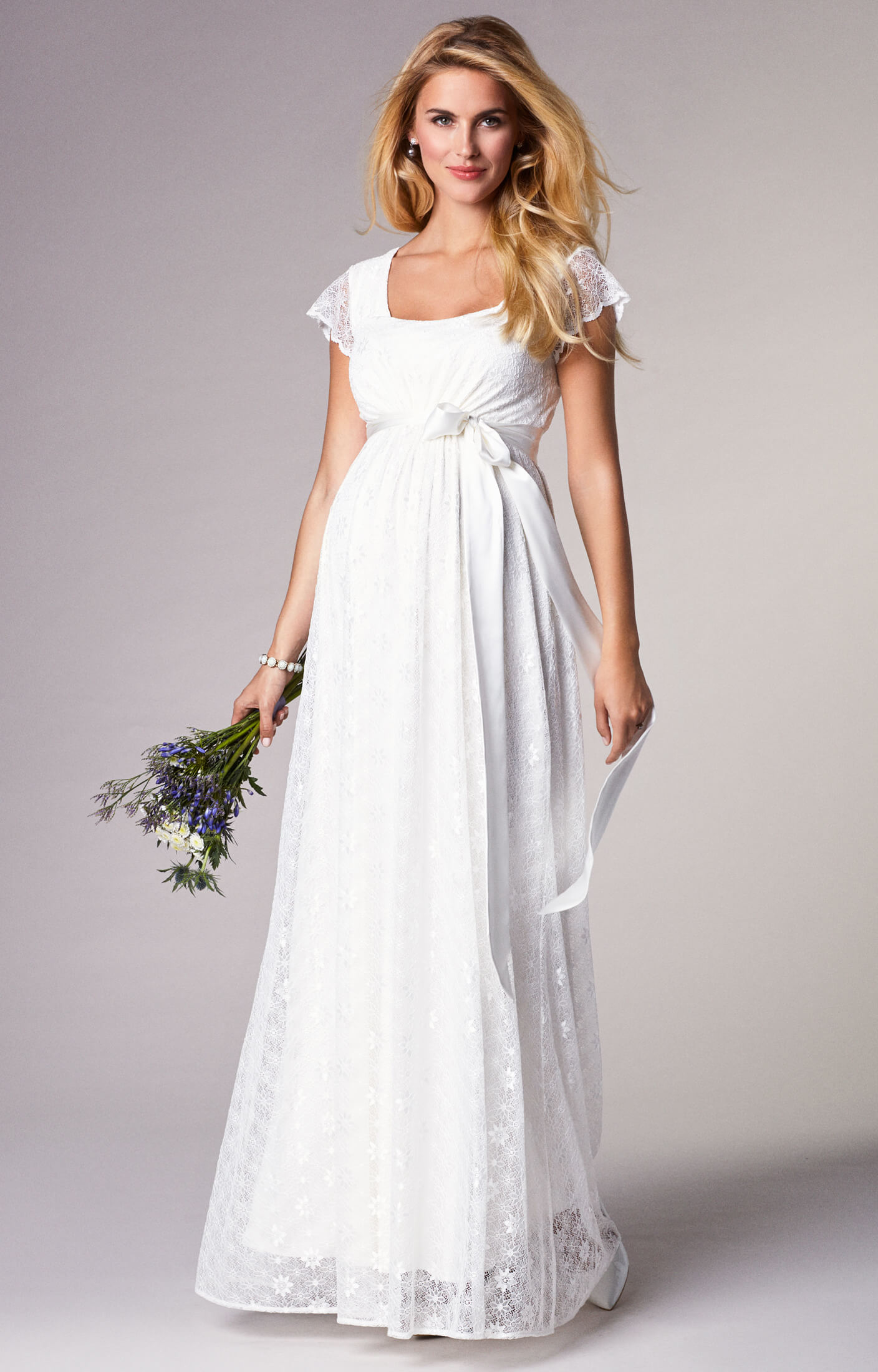 Florence Maternity Wedding Gown Long Ivory - Maternity Wedding ...