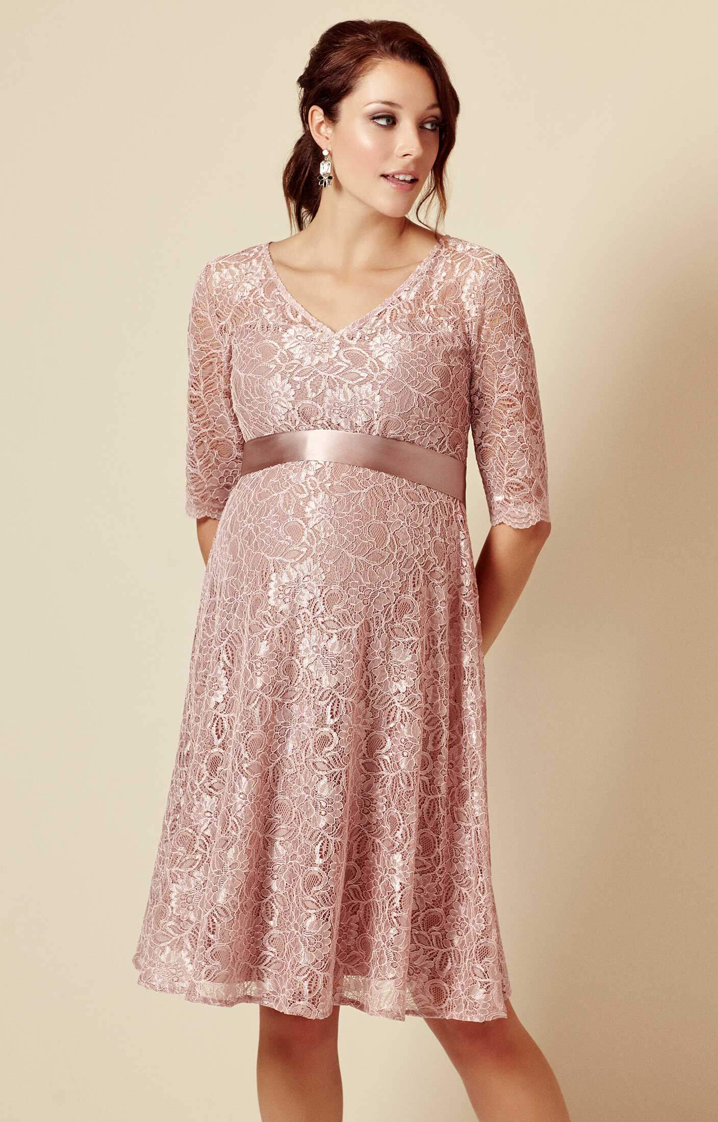 Flossie Maternity Dress Short Orchid Blush - Maternity Wedding ...