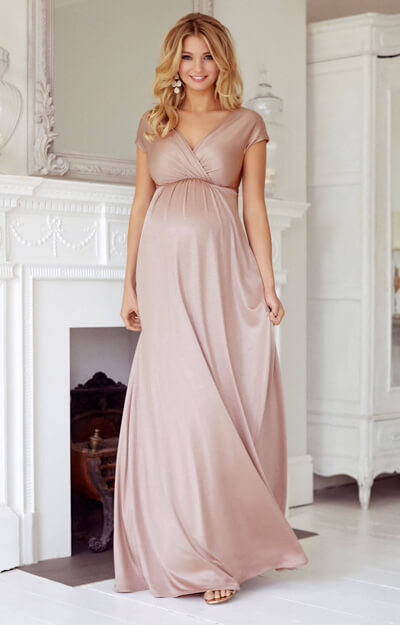 Francesca Maternity Maxi Dress Blush by Tiffany Rose