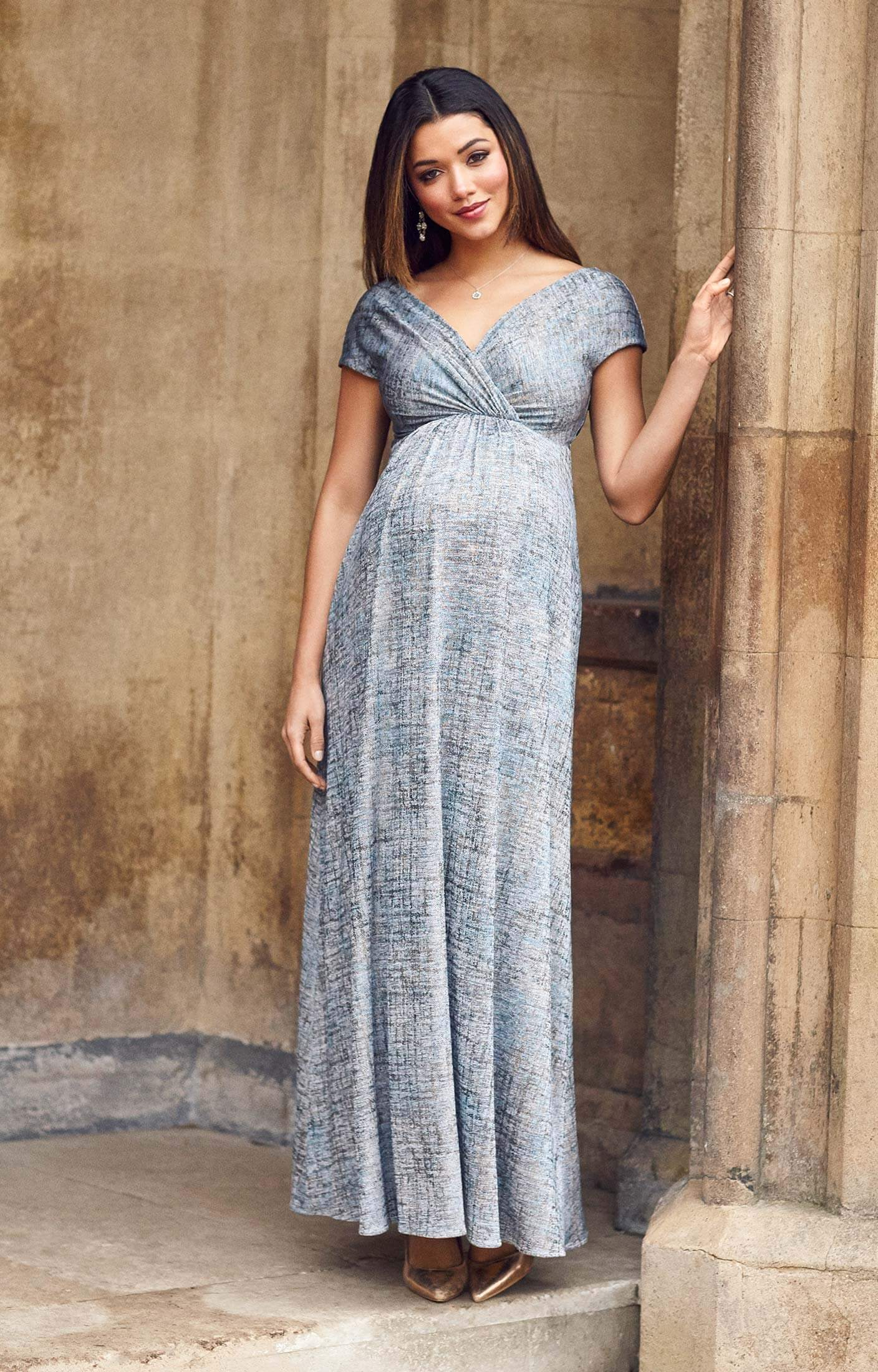 Francesca maternity maxi dress bronze blue maternity wedding francesca maternity maxi dress bronze blue by tiffany rose ombrellifo Gallery
