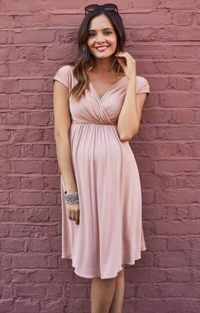 Francesca Maternity Dress in Blush by Tiffany Rose