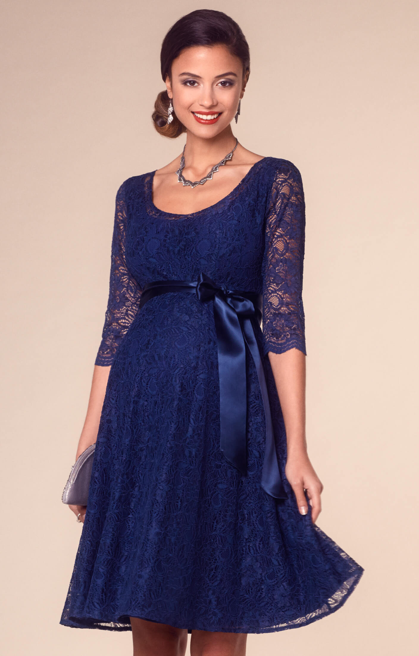 Umstandskleid Freya kurz Arabian Blue - Umstandshochzeitskleider ...