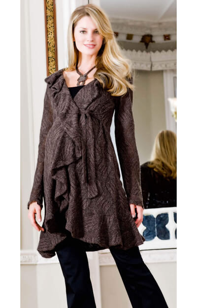 Frill Maternity Jacket (Brown) by Tiffany Rose