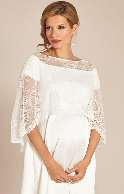 Georgia Lace Wedding Capelet Ivory by Tiffany Rose