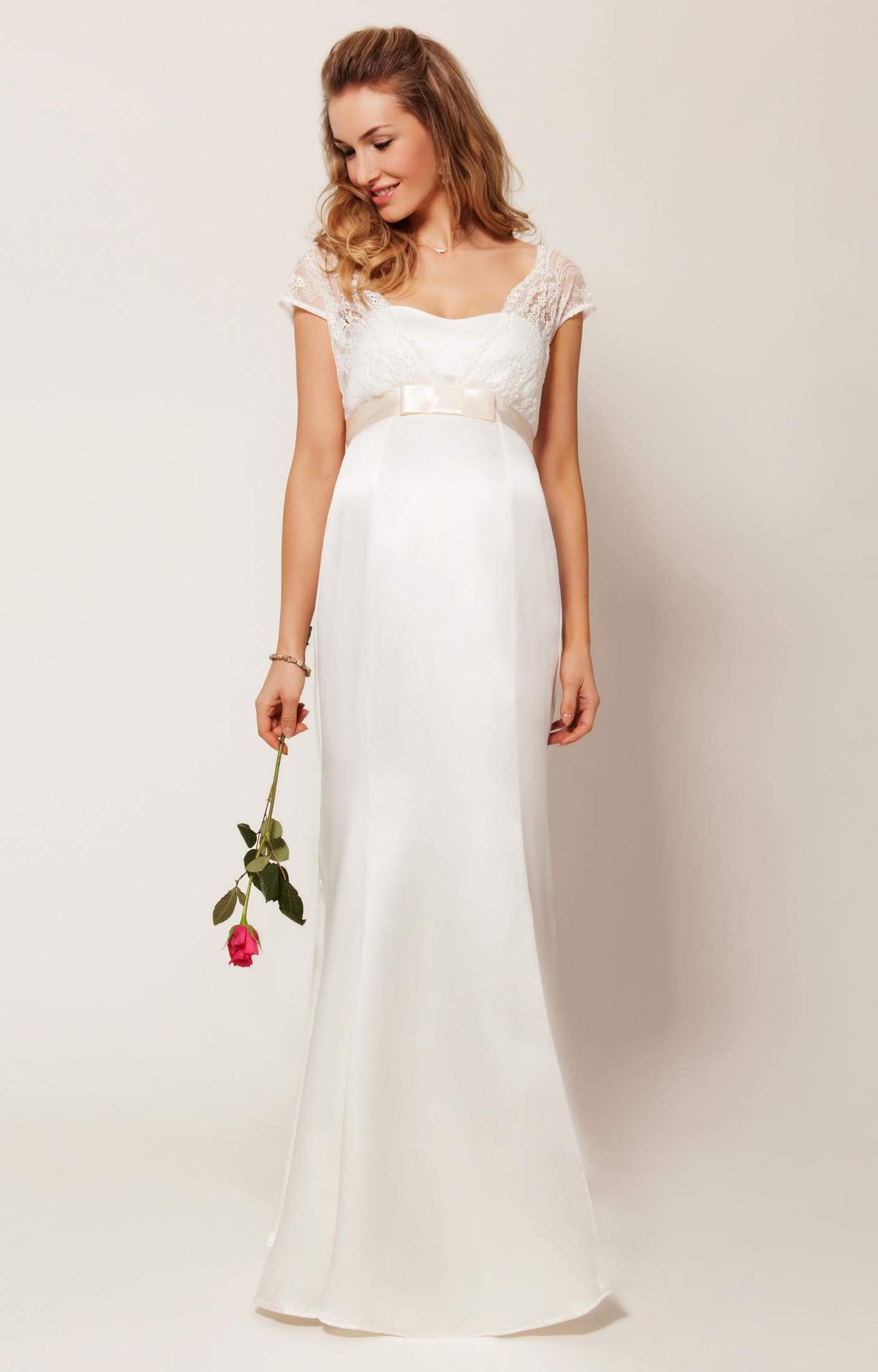 Georgia Maternity Wedding Gown (Vintage Ivory) - Maternity Wedding ...