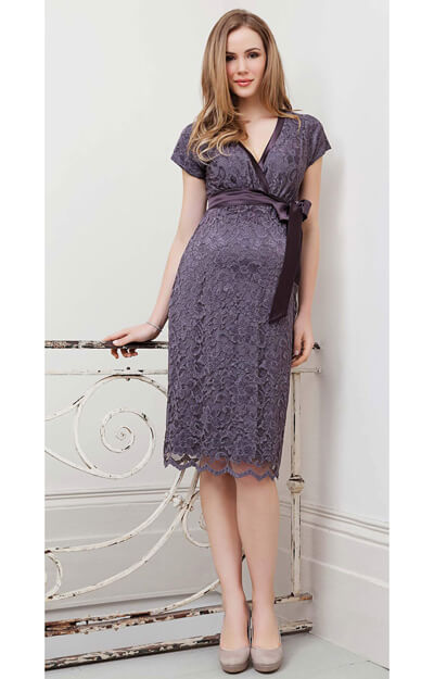 Grace Maternity Dress (Dark Thistle) by Tiffany Rose
