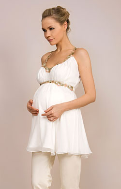 Grecian Maternity Top