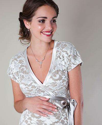 Brilliant short sleeves applique ruffle beads working column floor length mother of brides cream wedding dress