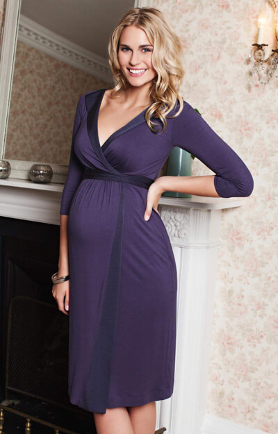 Gwen Maternity Dress (Bluebell) by Tiffany Rose