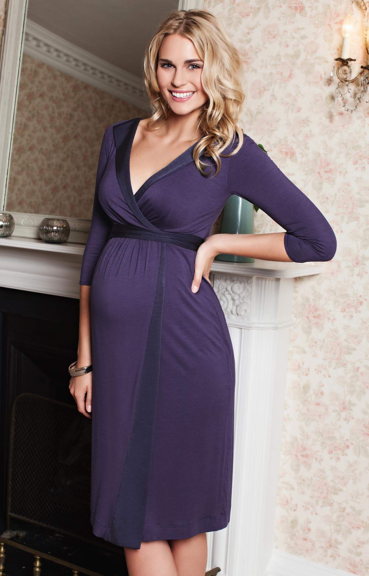 Purple Maternity Dresses