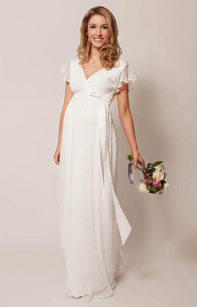 Hannah Maternity Wedding Gown Long Ivory by Tiffany Rose