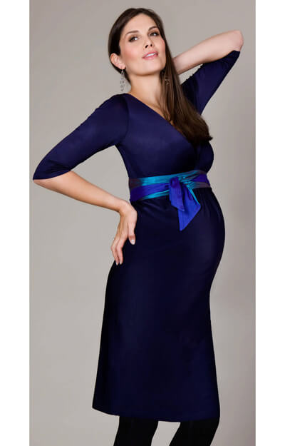Indigo Maternity Dress (Blue) by Tiffany Rose