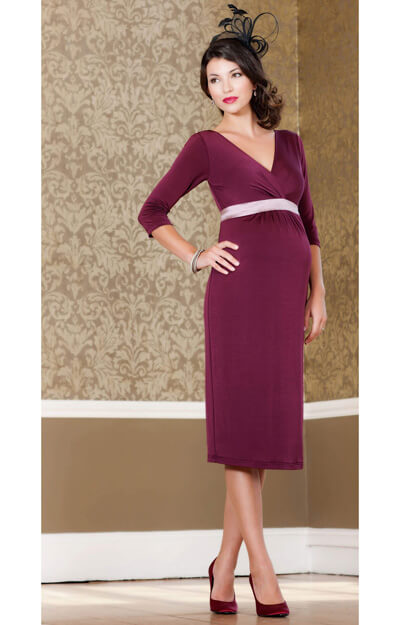 Indigo Maternity Dress (Berry) by Tiffany Rose