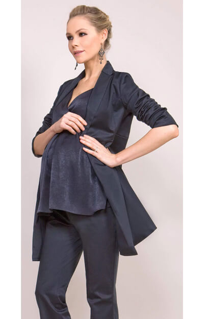 Tailored Maternity Jacket (Black) by Tiffany Rose