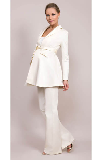 Tailored Maternity Jacket (Cream) by Tiffany Rose