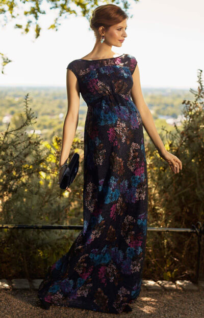 Jasmine Maternity Gown Long Midnight Flower by Tiffany Rose