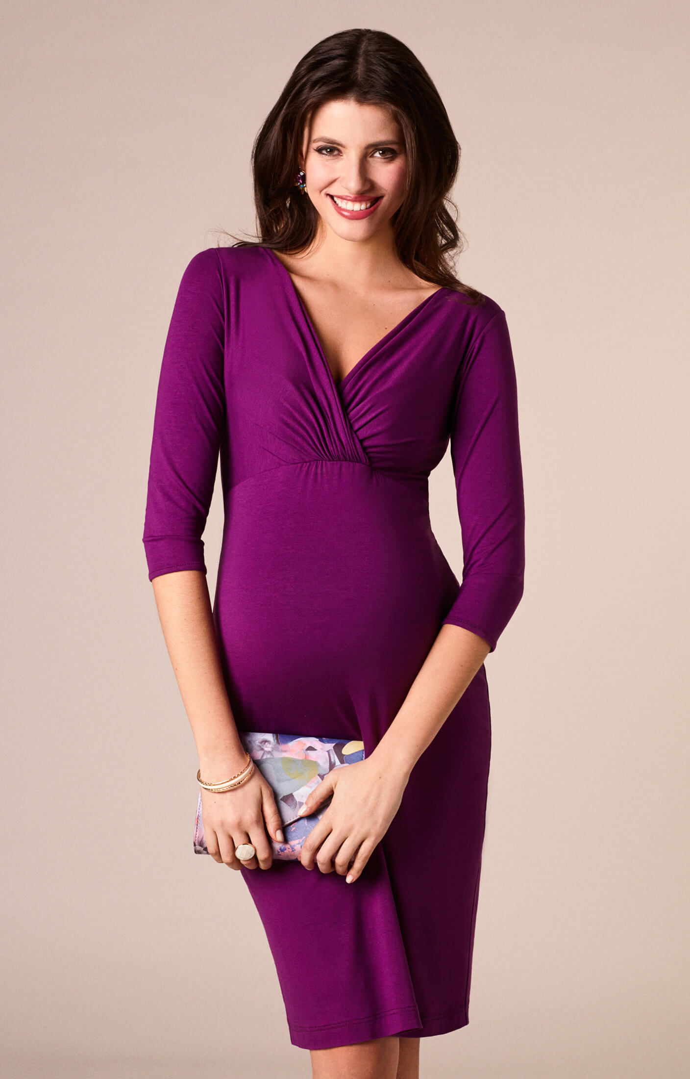 Josephine Maternity Dress Berry - Maternity Wedding Dresses, Evening ...