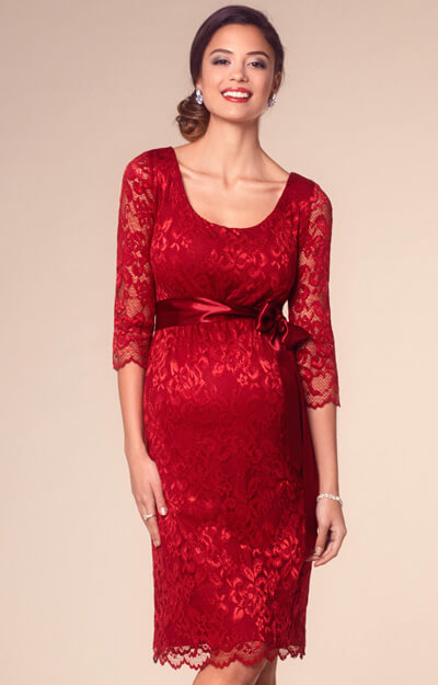 Katie Maternity Dress Short Rouge by Tiffany Rose